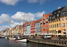 Nyhavn a Copenhaghen Immagini Stock Libere da Diritti