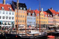 Nyhavn Copenhaghen Fotografia Stock Libera da Diritti