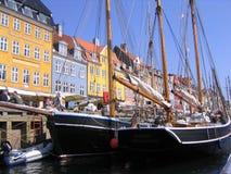 Nyhavn Copenhaghen Fotografie Stock Libere da Diritti