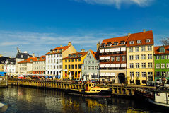 Nyhavn - Copenhaghen, Danimarca Fotografia Stock