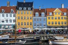 Nyhavn, Copenhaghen, Danimarca Fotografia Stock