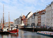 Nyhavn, Copenhague Photos libres de droits