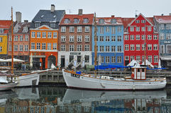 Nyhavn Copenhague foto de archivo