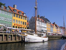 Nyhavn Copenhague Imagen de archivo libre de regalías