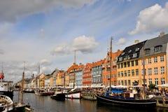 Nyhavn, Copenhague foto de archivo