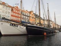 Nyhavn, Copenhague Dinamarca Foto de archivo