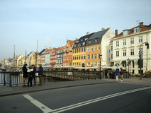 Nyhavn, Copenhague Dinamarca Fotos de archivo