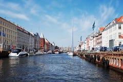 Nyhavn, Copenhague, Dinamarca imagen de archivo