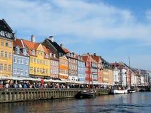 Nyhavn in Copenhavn. The historic centre of Copenhagen, Nyhavn Stock Photography