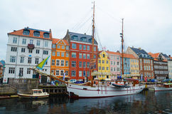 Nyhavn de Copenhaga Foto de Stock Royalty Free