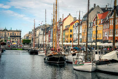 nyhavn de Copenhague Photo stock