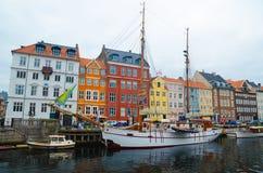 Nyhavn de Copenhague Foto de archivo libre de regalías