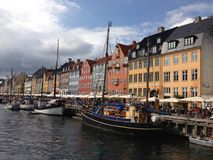 nyhavn de Copenhague Image stock