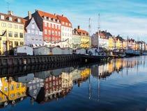 Nyhavn Denemarken Royalty-vrije Stock Foto's