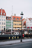 Nyhavn-Detail Stockbild