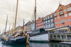 Nyhavn district in Copenhagen Royalty Free Stock Photos