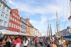 Nyhavn district in Copenhagen Royalty Free Stock Photo