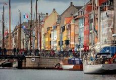 Nyhavn district in Copenhagen, Denmark Stock Photo