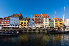Nyhavn district in Copenhagen Royalty Free Stock Photography