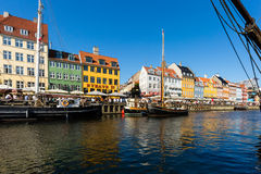 Nyhavn district in Copenhagen Royalty Free Stock Image