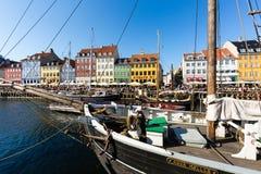 Nyhavn district in Copenhagen Stock Image