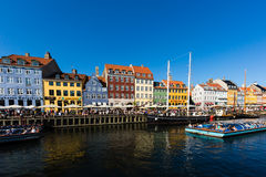 Nyhavn district in Copenhagen Royalty Free Stock Photography
