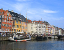 Nyhavn district in Copenhagen, Dennark Stock Photo