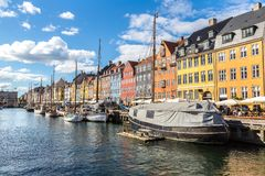 Nyhavn district in Copenhagen royalty free stock image