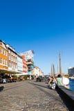 Nyhavn district in Copenhagen Stock Photography