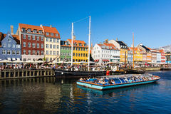 Nyhavn district in Copenhagen Royalty Free Stock Photos