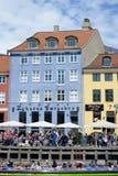 Nyhavn domy miejscy fotografia royalty free