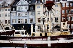 Nyhavn em Copenhaga Foto de Stock Royalty Free