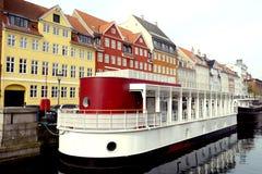 Nyhavn em Copenhaga Fotografia de Stock
