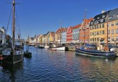Nyhavn em Copenhaga. Dinamarca Fotografia de Stock Royalty Free