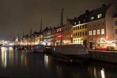 Nyhavn em Copenhaga, Dinamarca fotografia de stock