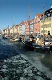 Nyhavn en Copehagen Fotografía de archivo libre de regalías
