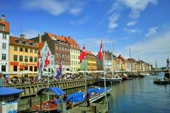Nyhavn en Copenhague Fotografía de archivo