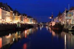Nyhavn en Copenhague Imagen de archivo