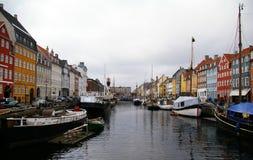 Nyhavn en Copenhague, Dinamarca Imágenes de archivo libres de regalías