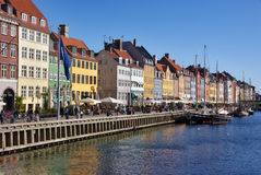Nyhavn en Copenhague. Dinamarca Fotos de archivo libres de regalías
