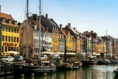 Nyhavn harbour in Copenhagen Royalty Free Stock Image