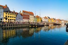 Nyhavn harbour in copenhagen denmark Royalty Free Stock Photo