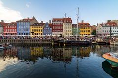 Nyhavn harbour in copenhagen denmark Royalty Free Stock Photography