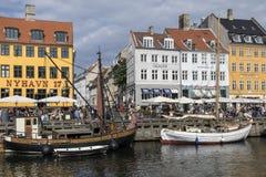 Nyhavn - Köpenhamn - Danmark Royaltyfri Foto