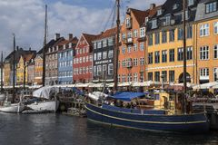 Nyhavn - Köpenhamn - Danmark Royaltyfria Bilder