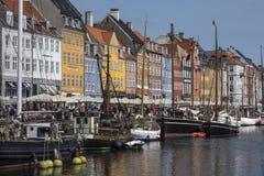 Nyhavn - Köpenhamn - Danmark Fotografering för Bildbyråer