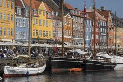 Nyhavn - Köpenhamn - Danmark Arkivfoto