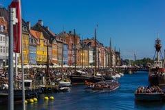 Nyhavn-Kanal stockfotos
