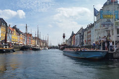 Nyhavn-Kanal in Dänemark Lizenzfreies Stockfoto