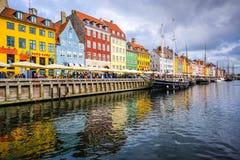 Nyhavn-Kanal von Kopenhagen Lizenzfreie Stockfotos